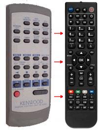 Erstatnings-fjernbetjening til  Kenwood 150M