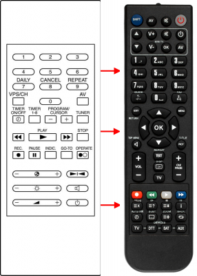 Erstatnings-fjernbetjening til  Interdiscount 2ATK5171
