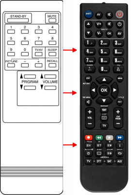 Replacement remote control for A.R. System CTV14BGM