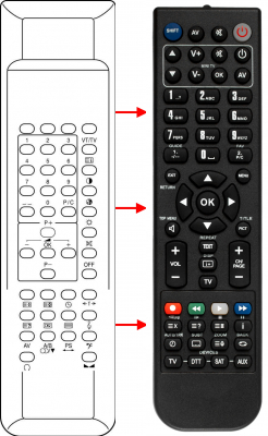 Replacement remote control for BRUNS 3.75