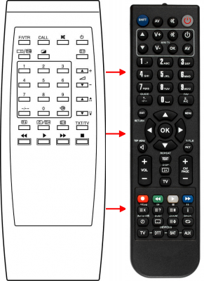 Replacement remote control for Zem ZM5005A