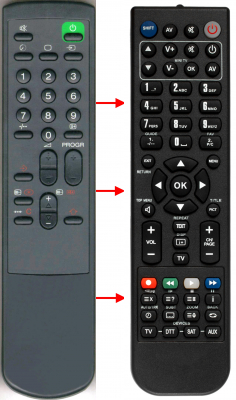 Replacement remote control for Sony 1-465-316-11