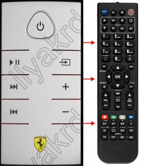 Erstatnings-fjernbetjening til  Ferrari DOCK STATION