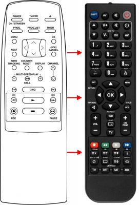 Erstatnings-fjernbetjening til  CM Remotes 90 01 10 17