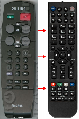 Replacement remote control for Classic IRC81011-OD