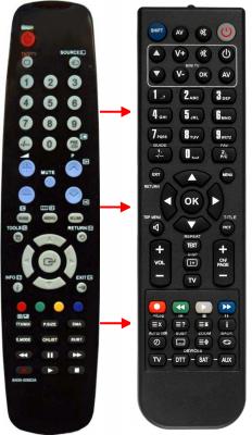Erstatnings-fjernbetjening til  Xtrend ET9000