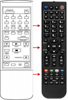 Replacement remote control for Accent HP2000V