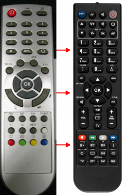 Replacement remote control for ABCom OPTICUM4000TS