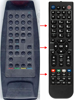 Replacement remote control for Zem ZM5017