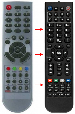 Replacement remote control for Cvs 80100