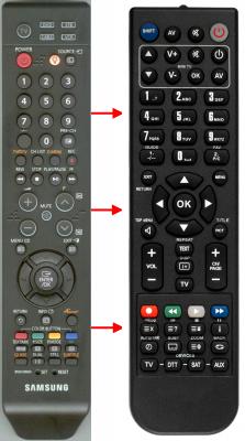 Zastępczy pilot dla Samsung 00272A DVB
