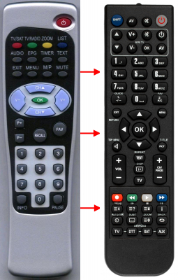 Replacement remote control for Comag DIGITAL S6