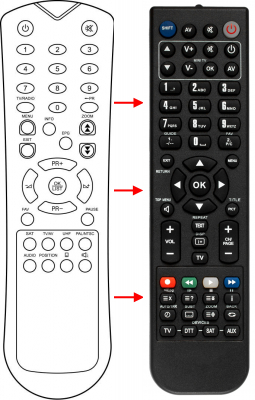 Replacement remote control for Cobra AIRONE
