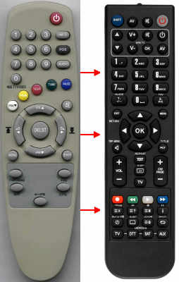 Replacement remote control for Cgv 70050