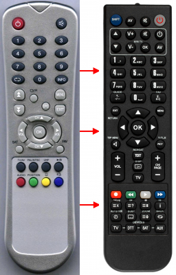 Replacement remote control for Zapp ZAPP667