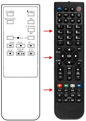 Erstatnings-fjernbetjening til  Nec 079-79-9790