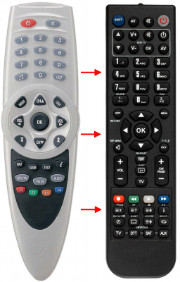 Replacement remote control for Comag FTA2CI