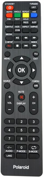 Replacement remote control for Zephir ZE-48FHD
