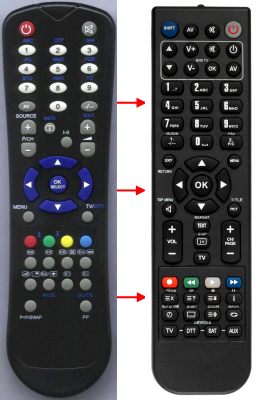 Replacement remote control for A.R. System UKV900