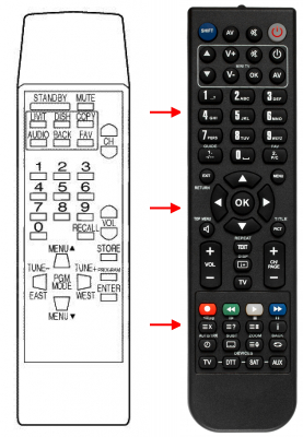 Replacement remote control for FTE Maximal ESRP9000C