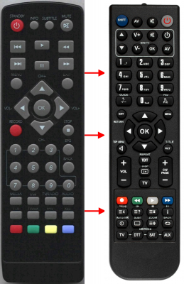 Replacement remote control for Digiquest 300HD