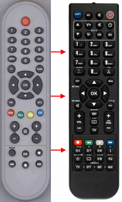 Replacement remote control for Cgv 70055PROPOSER
