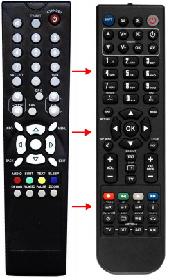 Replacement remote control for Cvs 8000SLX