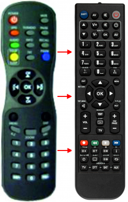 Replacement remote control for Comag DSR3