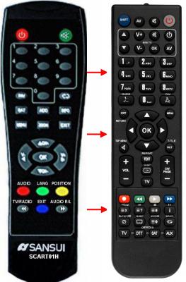 Erstatnings-fjernbetjening til  Mpman DVB-T2007