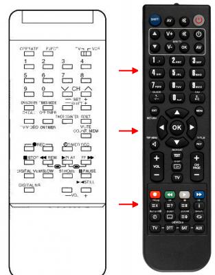 Erstatnings-fjernbetjening til  Nec 2121SGX