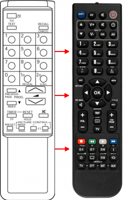Replacement remote control for Zem ZM5013