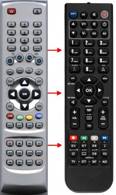 Erstatnings-fjernbetjening til  Boca AB i-TV50