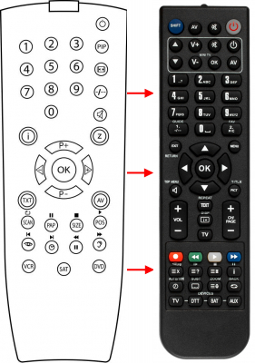 Replacement remote control for Grundig 080-4202