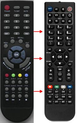 Erstatnings-fjernbetjening til  Echolink EL4020COMBO CA-USB