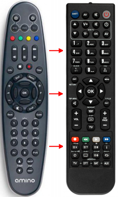 Replacement remote control for Aastra A140