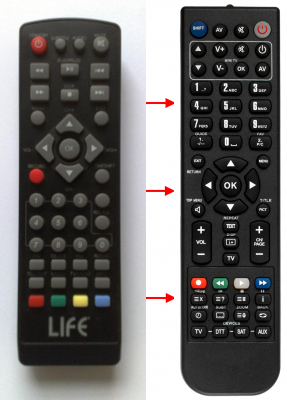 Replacement remote control for Digiquest 3000
