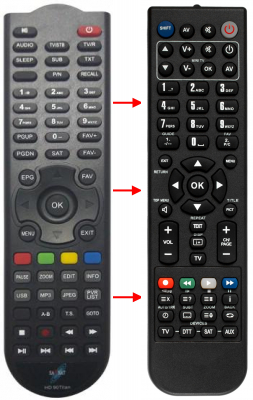 Replacement remote control for Easy-one T1USB PVR