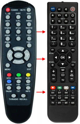 Replacement remote control for Easy-one T1