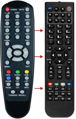 Erstatnings-fjernbetjening til  Easy-one S-HD1