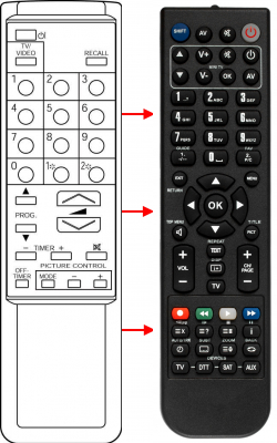 Replacement remote control for Zem ZM5014A