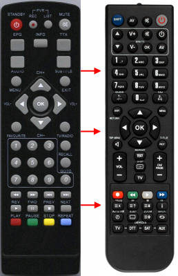 Replacement remote control for Comag HD-25