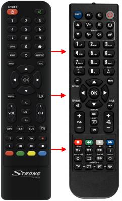 Erstatnings-fjernbetjening til  Triax 305160