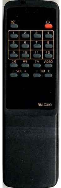 Replacement remote control for JVC AC21G