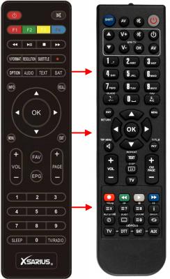 Replacement remote control for Xsarius SNIPER