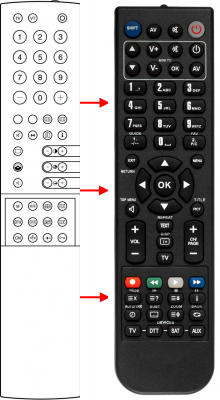Replacement remote control for A.H.B. Tvision FB300