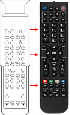 Replacement remote control for Classic 105-057H