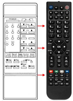 Erstatnings-fjernbetjening til  Panasonic 134M
