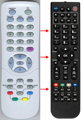 Replacement remote control for Zirwatel LOGIC RC TEXT