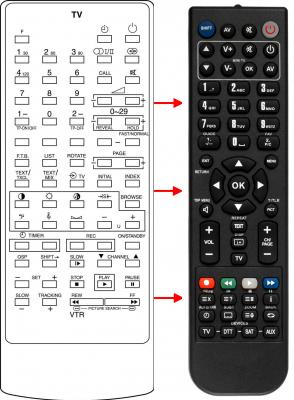 Erstatnings-fjernbetjening til  Bauer CT9296