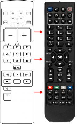 Replacement remote control for Thomson RC1355